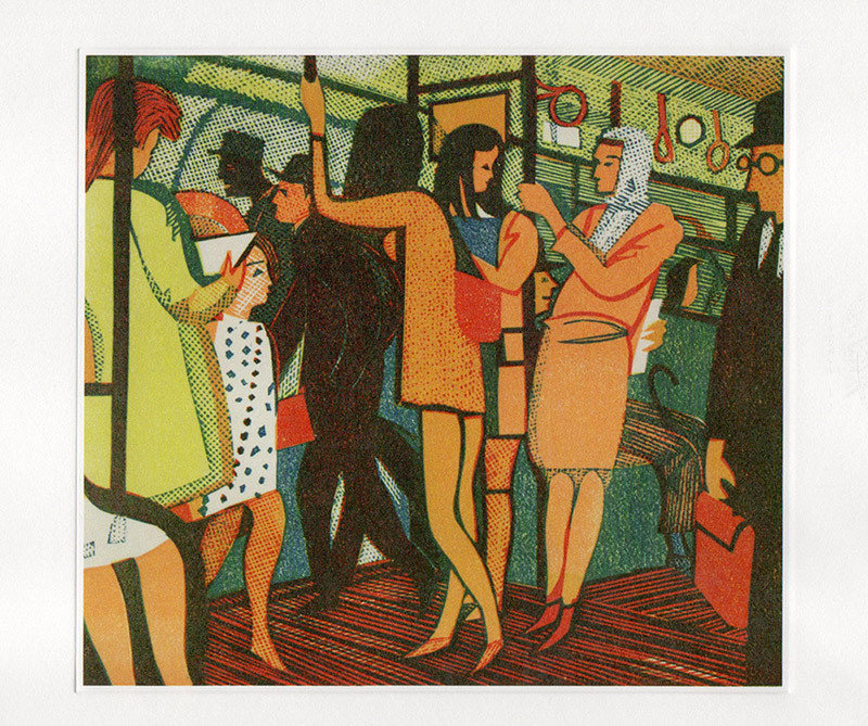 The District Line - Printmakers Art Card