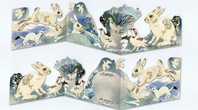 Winter Wildlife  3D Die-cut  Card