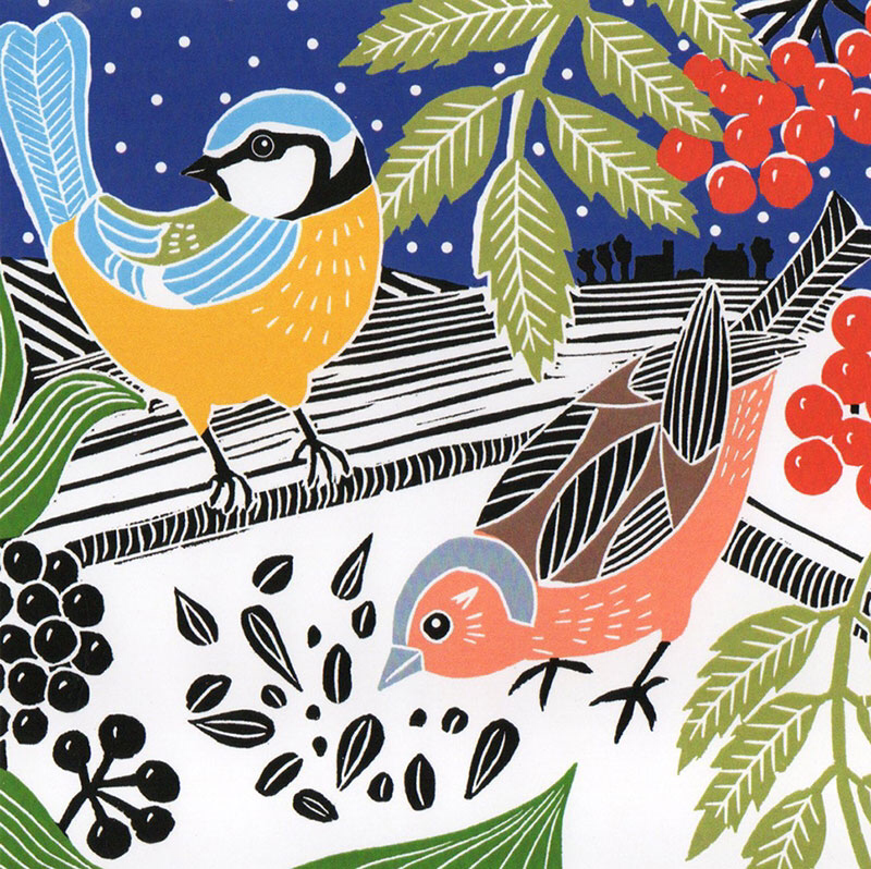 Winter Birds Notecard Pack