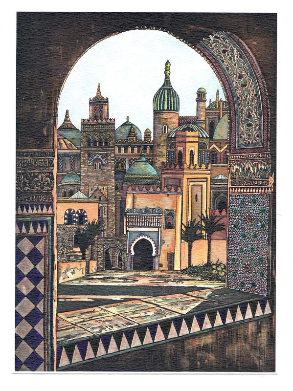 View from the Palace- Printmakers Card