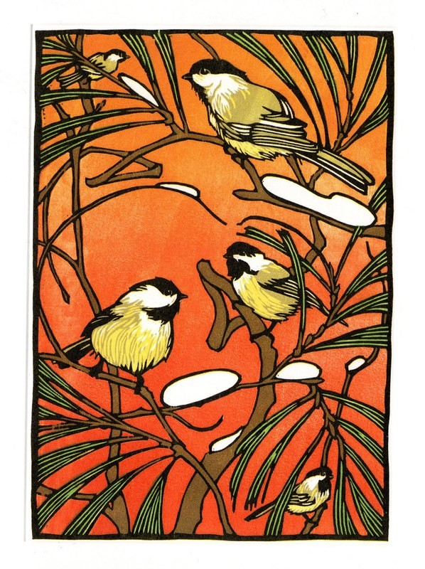 Chickadee Story - Printmakers Card