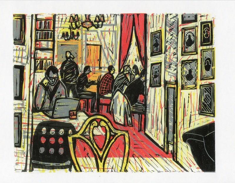 Cafe in Copenhagen- Gallery Artists Card