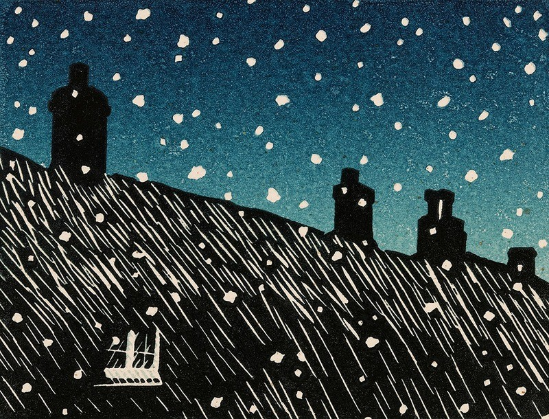 Evening Snow- Gallery Artists Card