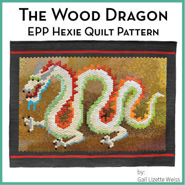 Hexie Dragon Quilt Pattern QP00012