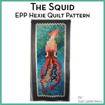 Hexie Squid Quilt Pattern QP00013