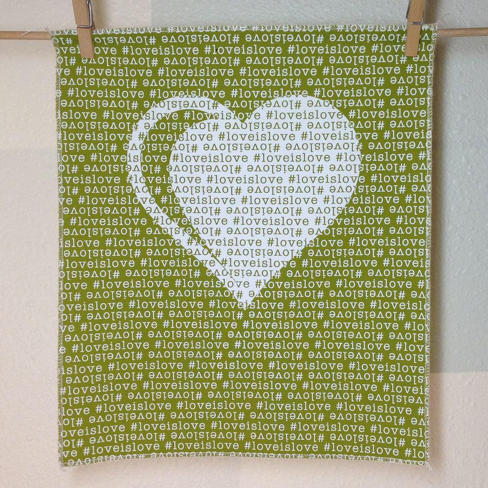 #loveislove fabric panel