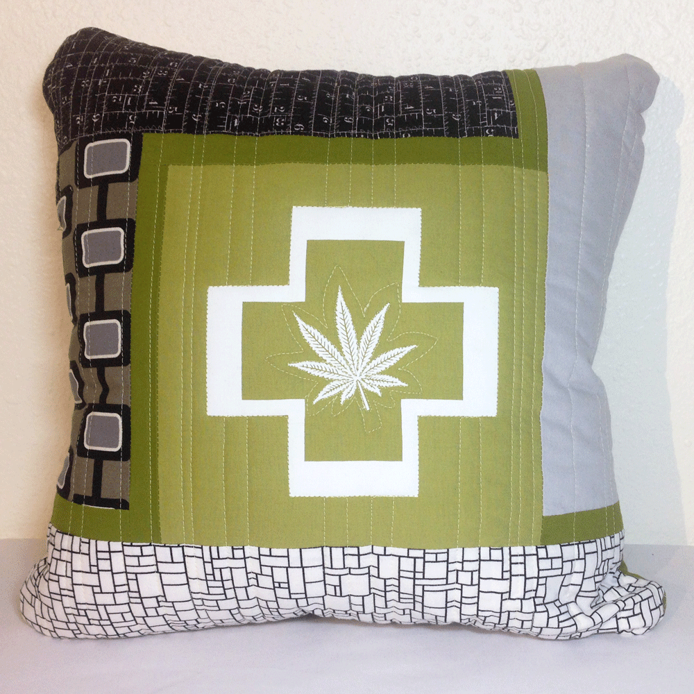 Quilted Cannabis Pillow No.1 HM0010