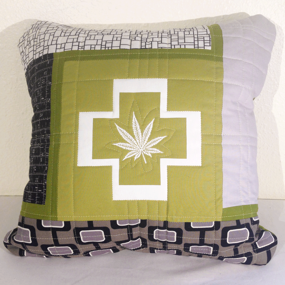 Quilted Cannabis Pillow No.2 HM0011