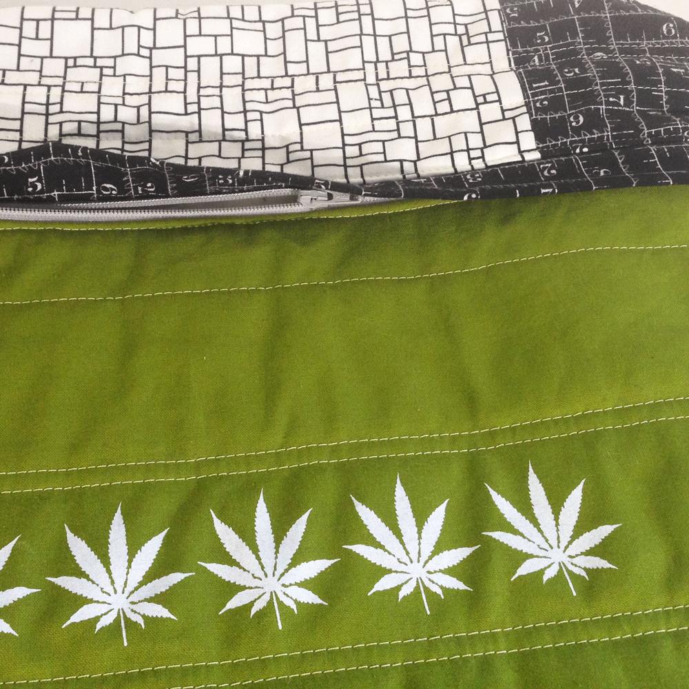 Cannabis Pillow No.2 Hidden Zipper