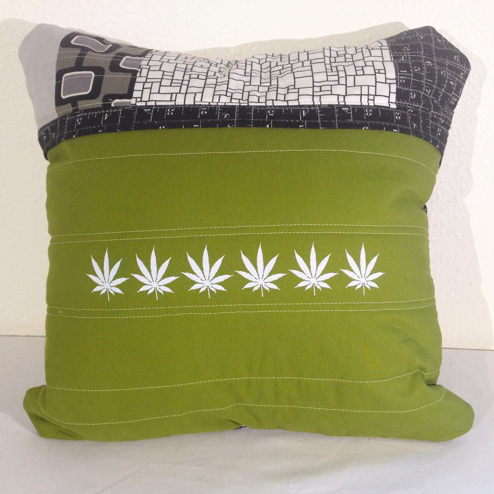 Cannabis Pillow No.2 back