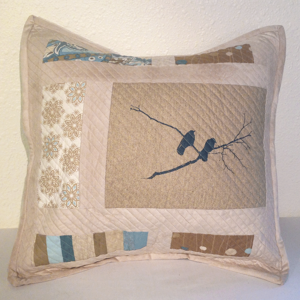 Quilted Crow Pillow No.2 HM0013