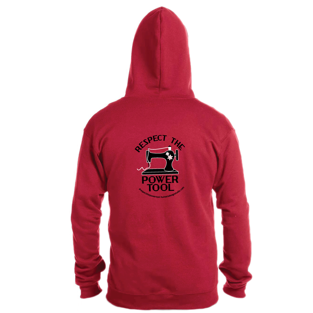 Respect The Power Tool* - Full Zip Hoody RED