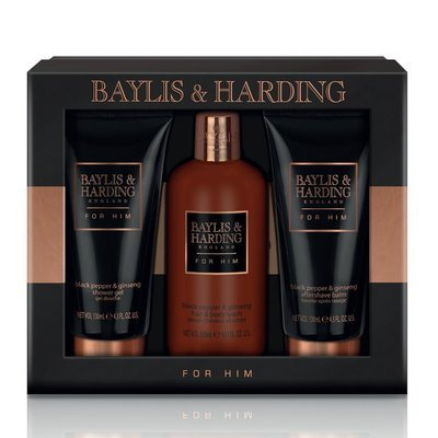 EXCLUSIVE Limited Edition Baylis & Harding Black Pepper & Ginseng Grooming Trio