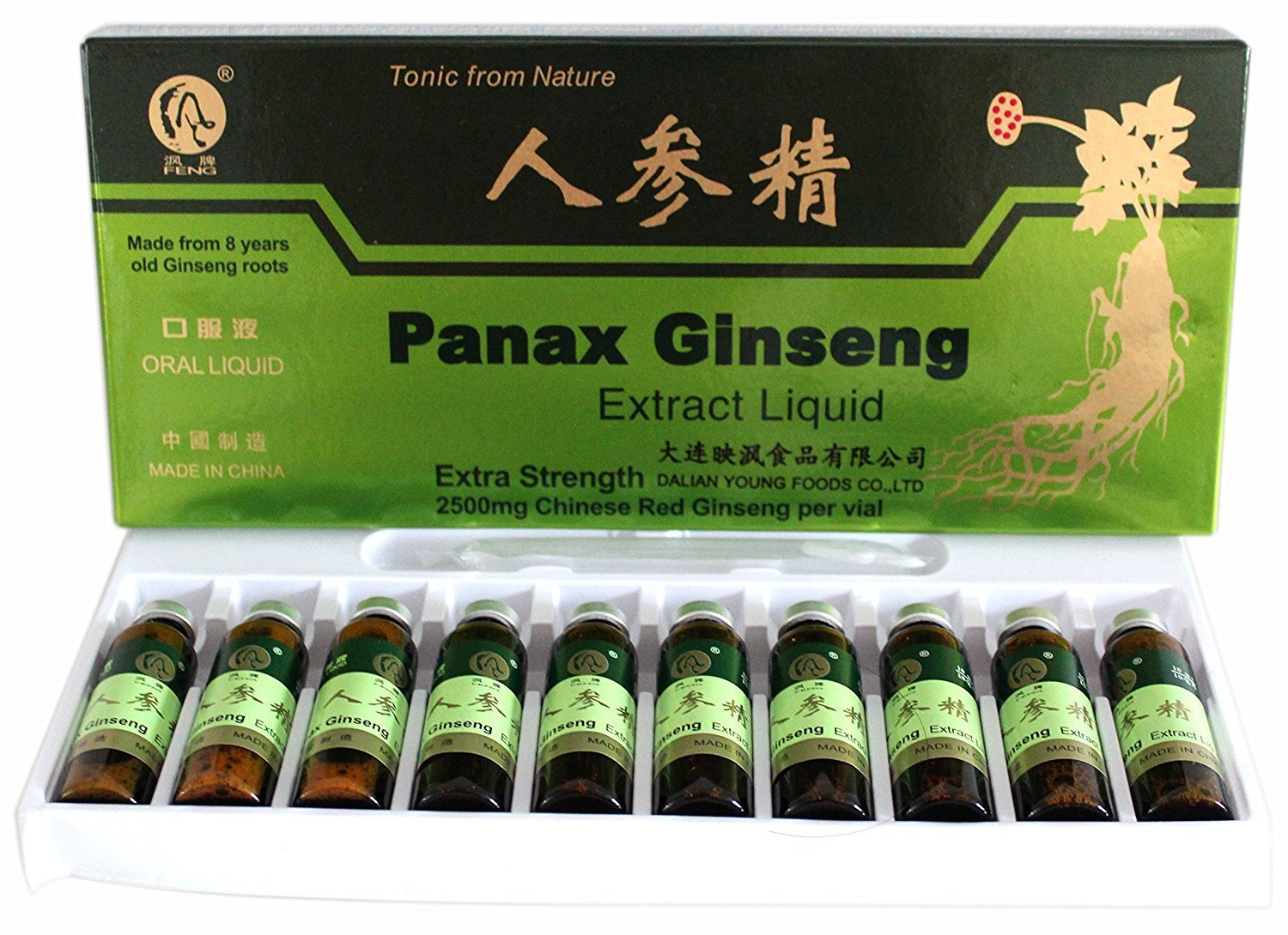 Extra Strength Panax Ginseng made of 8 years old Ginseng Roots