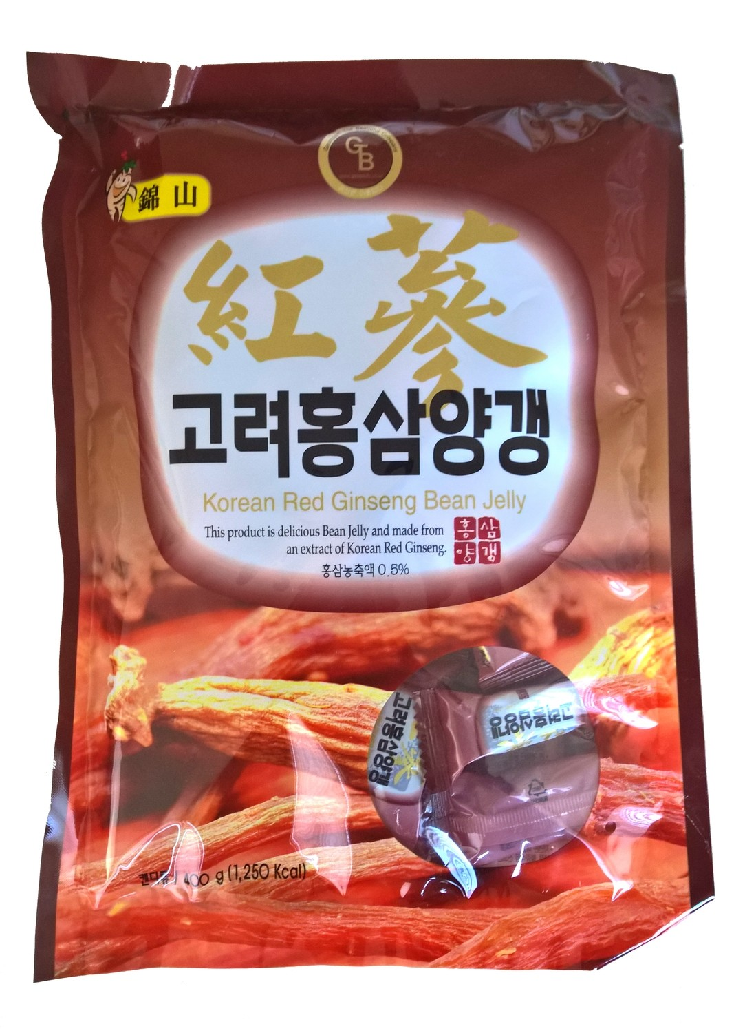 Korean Red Ginseng Bean Jelly candies - bag of 400 grams