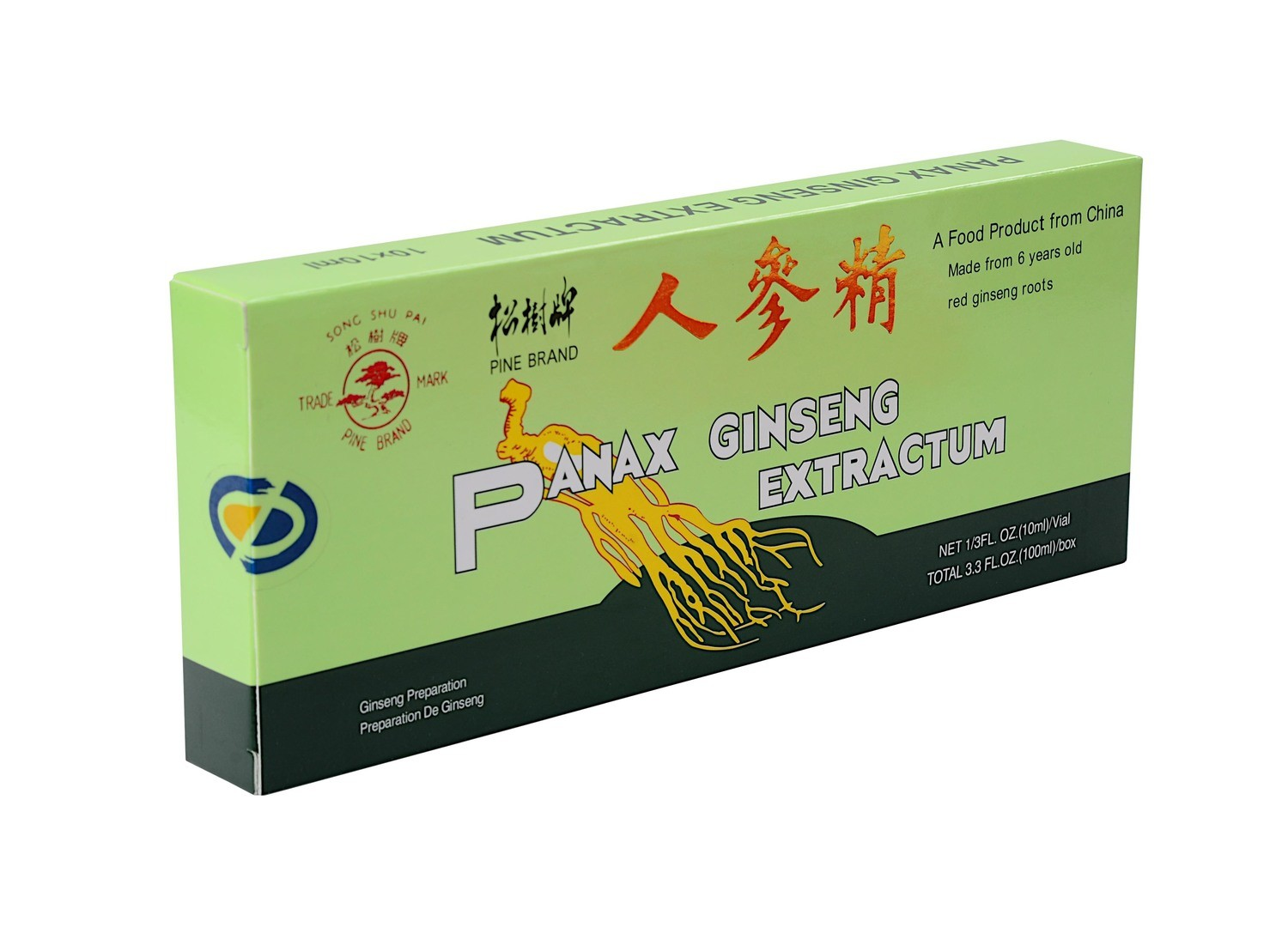 Panax Ginseng Extract Oral Liquid (6 years old red ginseng) 10 vials