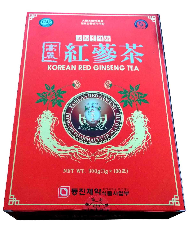 Korean Red Ginseng Tea NET WT 300 g (3g x 100 sachets)