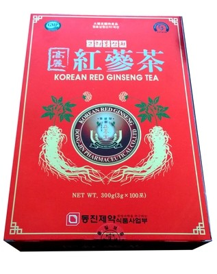 Korean Red Ginseng Tea NET WT 300 g (3g x 100 sachets)