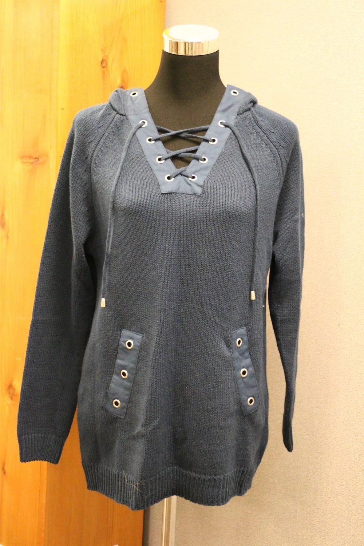 Rockin Grommet Knit Sweater by Simply Noelle