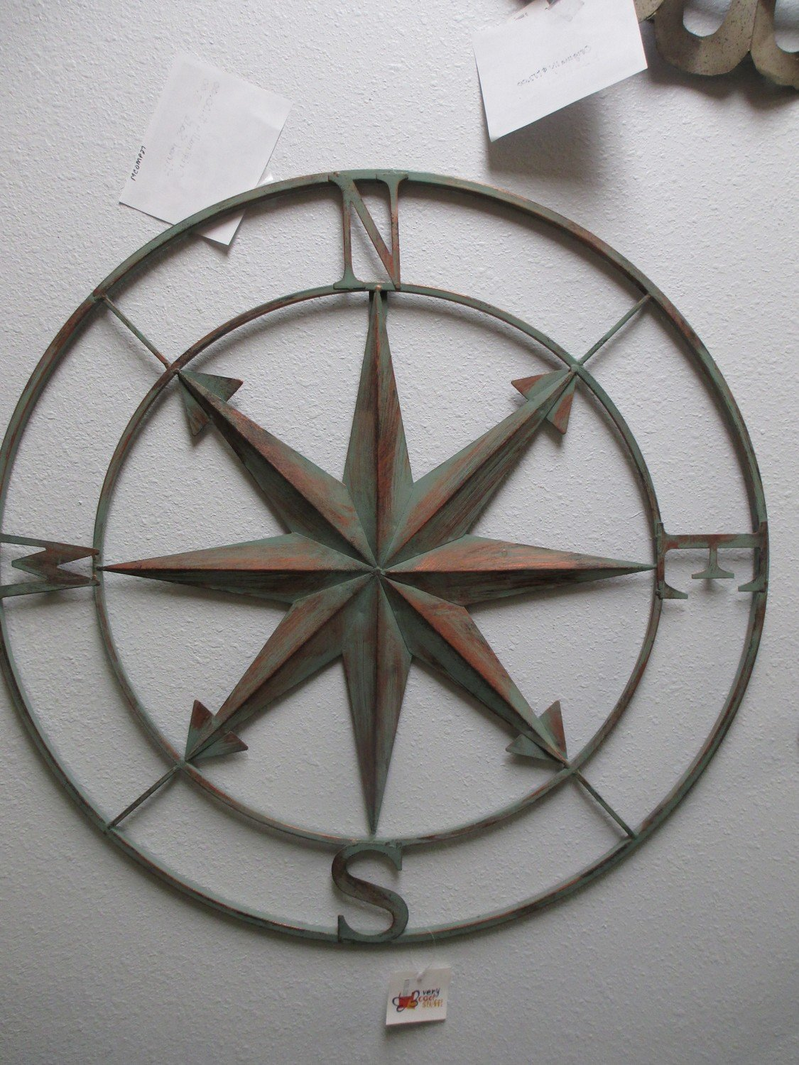 Rusted Compass Wall Art
