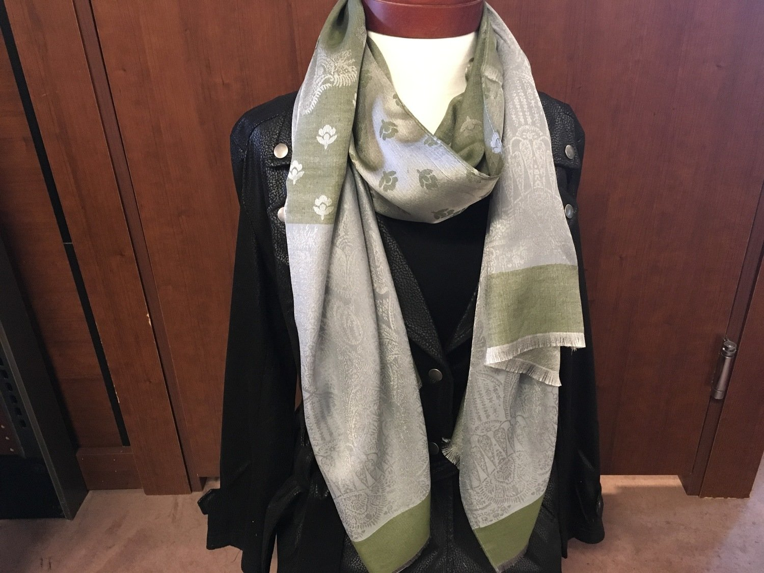 Simply Noelle Moss Chic Floral/Paisley Scarf