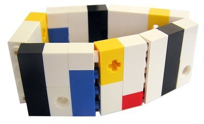 Collectible bracelet Model 5 - made from LEGO® bricks on stretchy cords - MONDRIAN