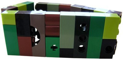 Collectible bracelet Model 8 - made from LEGO® bricks on stretchy cords - CAMOUFLAGE