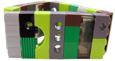 Collectible bracelet Model 10 - made from LEGO® bricks on stretchy cords - CAMOUFLAGE