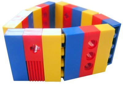 Collectible bracelet Model 7 - made from LEGO® bricks on stretchy cords - CIRCUS