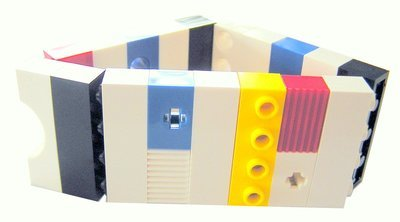 Collectible bracelet Model 16 - made from LEGO® bricks on stretchy cords - MONDRIAN