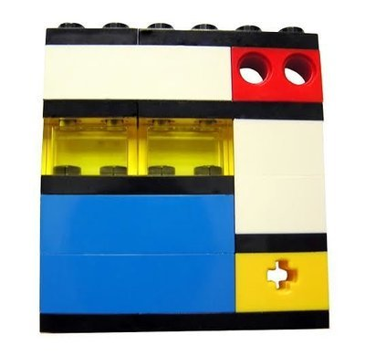 ​Collectible brooch pin Model 1 - made from LEGO® bricks - MONDRIAN