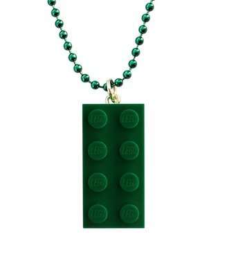 ​Dark Green LEGO® brick 2x4 on a 24