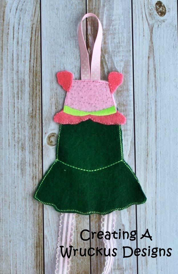Mermaid Dress Bow Holder