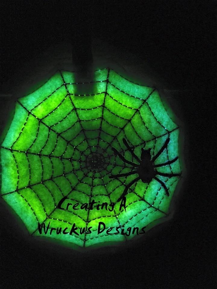 Spider Web Glow Ornament