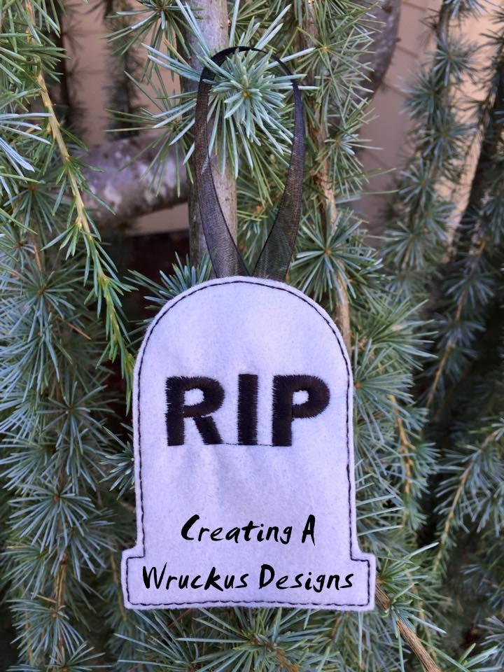 RIP Tomb Glow Ornament