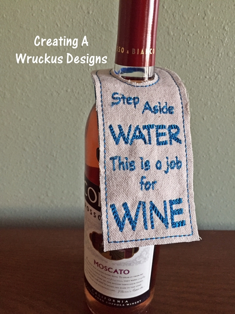 Step Aside Water Bottle Tag