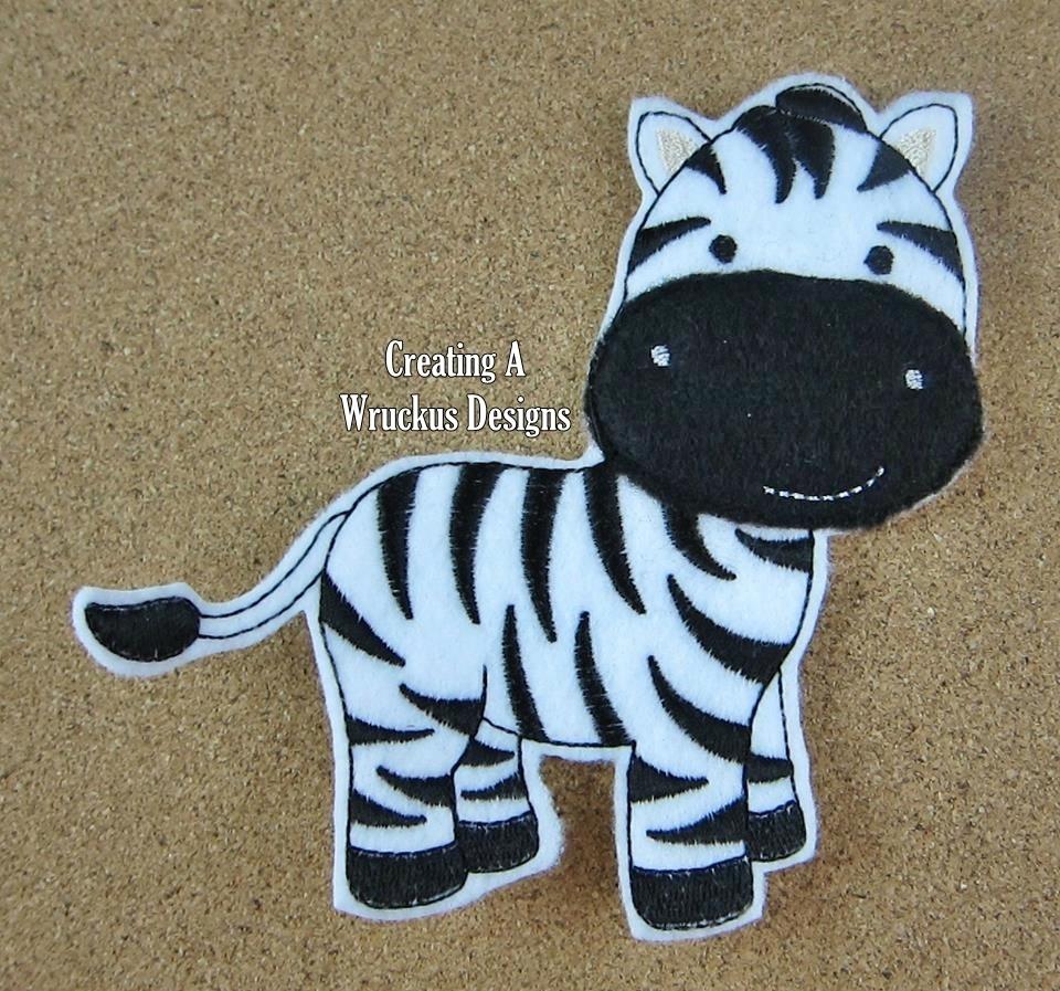 Z is for Zebra Super Sized Feltie