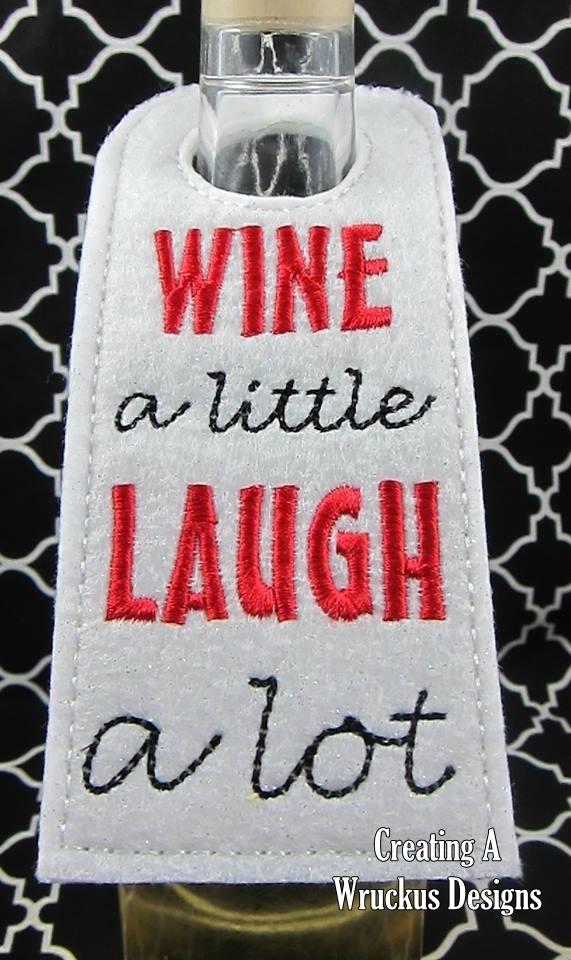 Wine a Little Bottle Tag