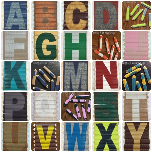 Alphabet Stick Puzzle Set