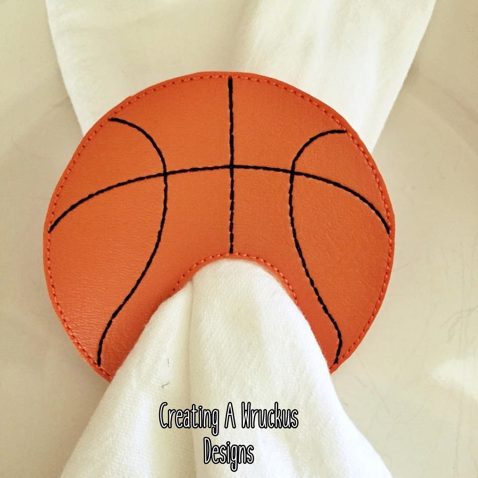 Basketball Napkin Ring