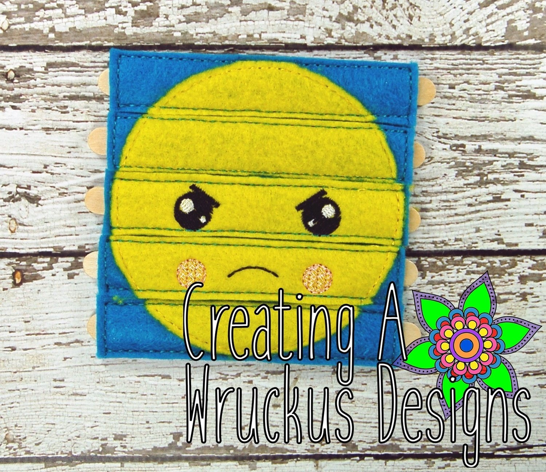 Angry Emoji Stick Puzzle 4x4