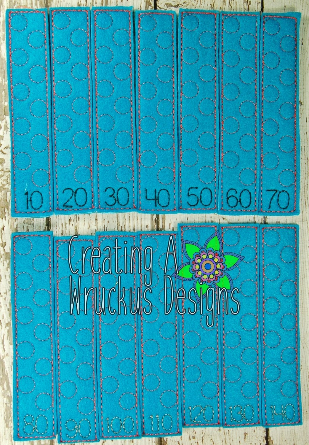 Counting by 10's Stick Stick Puzzle