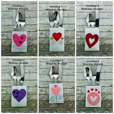 Heart Silverware Pocket Set