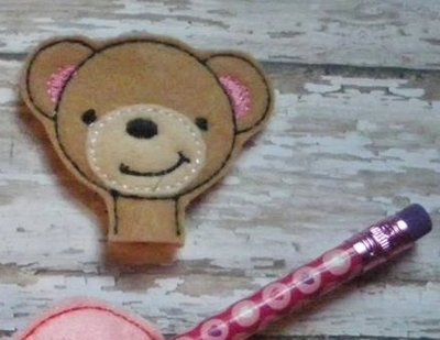 Bear Pencil Topper