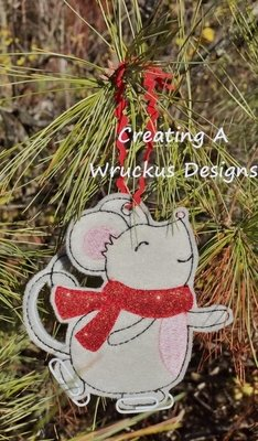 Skating Mouse Ornament