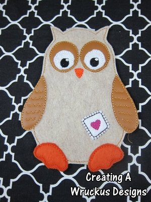 O is for Owl Super Sized Feltie