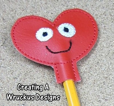 Smiling Heart Pencil Topper