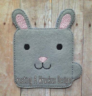 Square Rabbit Super Sized Feltie
