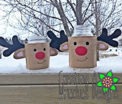 Reindeer Jar Cover