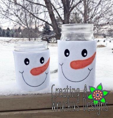 Snowman Jar Cover